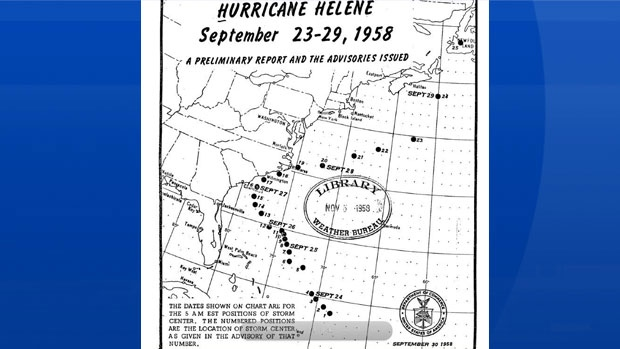 Juan was not the only Hurricane to impact the maritimes on a September 29th