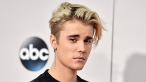 In this Nov. 22, 2015 file photo, Justin Bieber arrives at the American Music Awards at the Microsoft Theater in Los Angeles. (Jordan Strauss/AP)