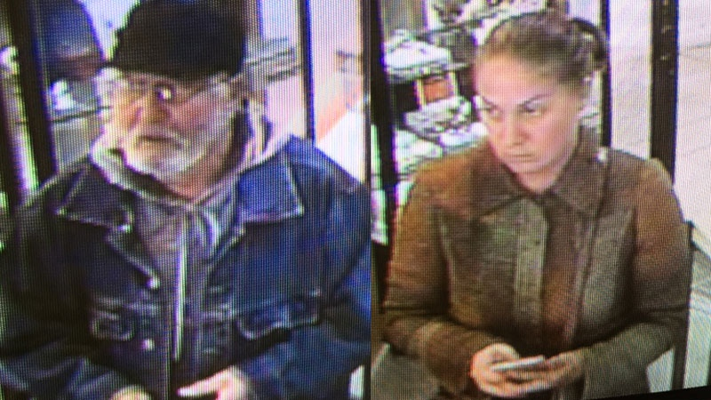 Seventy-year-old Grigori Zaharov and 44-year-old Natalia Feldman pleaded guilty to stealing a $10,000 diamond from a jewelry store in Saint John. (Charlottetown Police Services)