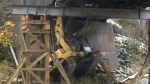 CTV Atlantic: Excavator stuck in bridge