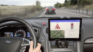 Ford trials technology that tells you the best speed for reaching traffic lights on green. © Ford Motor Company