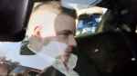 Michael Rafferty is transported from the courthouse in the back of police cruiser in London, Ont., on March, 14, 2012. (Dave Chidley/THE CANADIAN PRESS)
