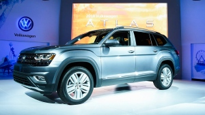 The 2018 Volkswagen Atlas debuts in Santa Monica, Calif. on Oct. 27, 2016. (Dan Steinberg / AP Images for Volkswagen of America)