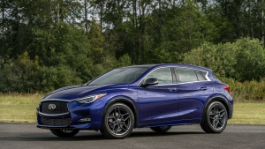 This undated photo provided by Infiniti shows the 2017 QX30. Nissan's luxury brand Infiniti adds the QX30, a new compact SUV that rides and looks more like a small, peppy hatchback. (Infiniti via AP)
