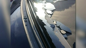 CTV Barrie: Debris hits car