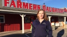 Heather Coulombe, co-owner of the Farmer's Daughter Country Market in Whycocomagh, N.S., is shown in front of the store on Wednesday, Nov.9, 2016. (THE CANADIAN PRESS/ Michael MacDonald)
