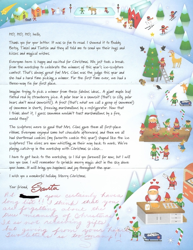 writing a letter to santa canada post