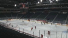 The Halifax Mooseheads practice at the Scotiabank Centre in Halifax.