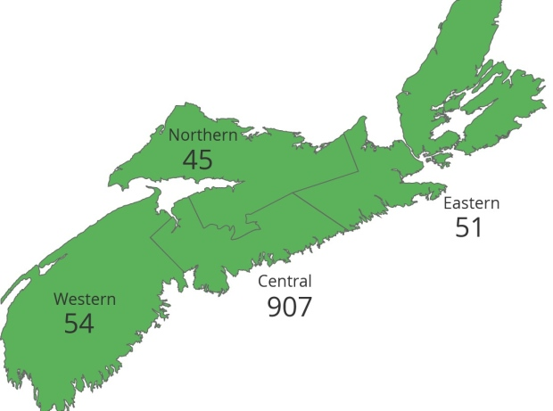 Nova Scotia COVID map June 1