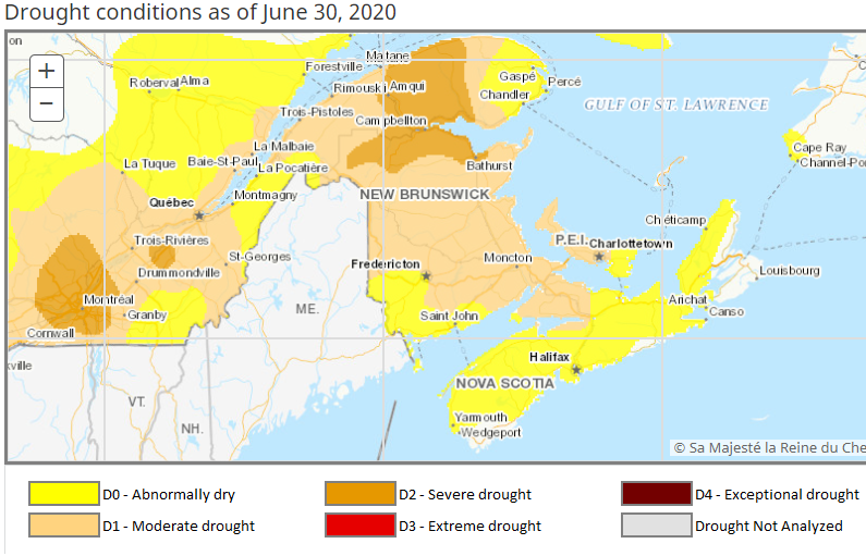 Canada Drought Monitor