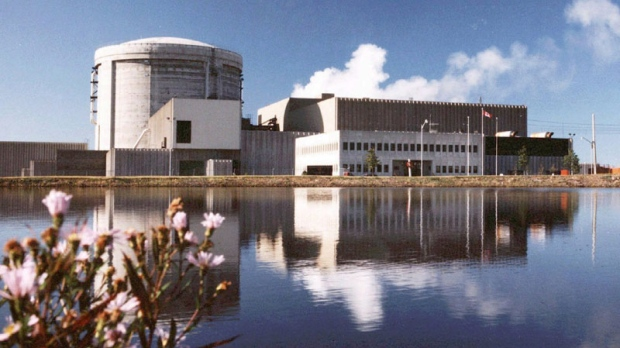 FILE- The Point Lepreau nuclear station is seen in this undated handout photo. The government of New Brunswick has announced that French nuclear giant Areva will study the possibility of building a second nuclear reactor in the province.
