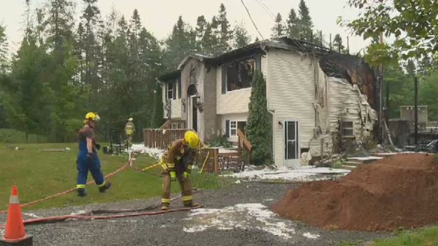 Fire officials say a lightning strike may have caused the fire that damaged this Elmsdale, N.S. home.