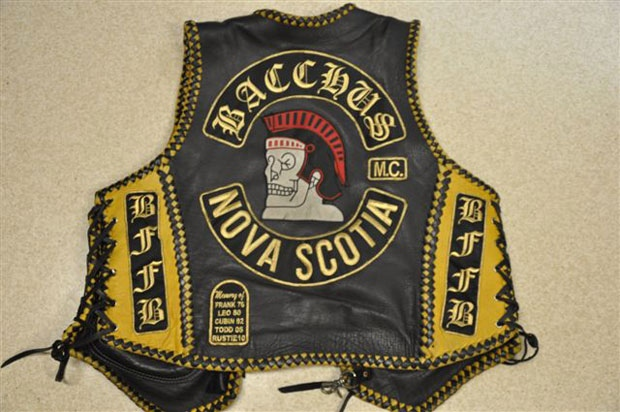 Police say they seized vests displaying Bacchus rocker panels in the raids.