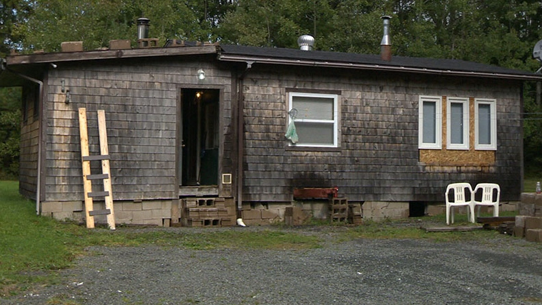 The home in Upper Chelsea, N.S., where a boy was allegedly held captive and sexually assaulted is seen.